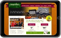 temptations website tablet screen show
